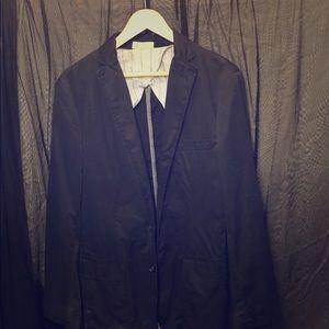 J Crew Black Cotton Sport Coat